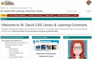 St David Virtual Learning Commons
